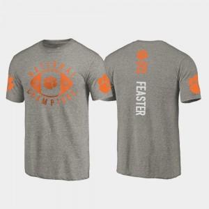 #28 Tavien Feaster Clemson Tigers Men's 2018 National Champions College Football Playoff T-Shirt - Gray