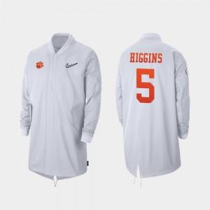 #5 Tee Higgins Clemson Tigers 2019 College Football Playoff Bound Full-Zip Sideline For Men Jacket - White