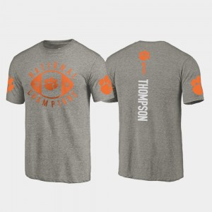 #1 Trevion Thompson Clemson Tigers 2018 National Champions College Football Playoff For Men T-Shirt - Gray