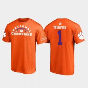#1 Trevion Thompson Clemson Tigers Men's Pylon College Football Playoff 2018 National Champions T-Shirt - Orange