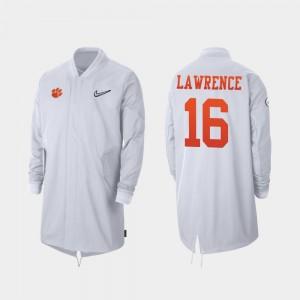 #16 Trevor Lawrence Clemson Tigers 2019 College Football Playoff Bound For Men Full-Zip Sideline Jacket - White