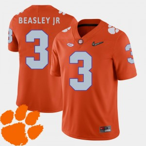 #3 Vic Beasley Jr. Clemson Tigers Men's 2018 ACC College Football Jersey - Orange