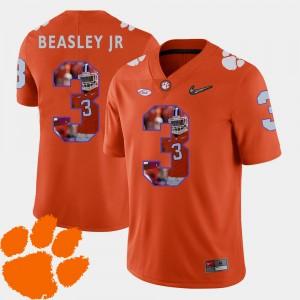 #3 Vic Beasley Jr. Clemson Tigers For Men Football Pictorial Fashion Jersey - Orange