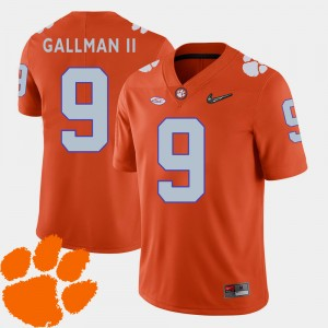 #9 Wayne Gallman II Clemson Tigers College Football 2018 ACC Men Jersey - Orange