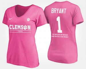 #1 Martavis Bryant Clemson Tigers Women's With Message T-Shirt - Pink