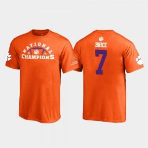 #7 Chase Brice Clemson Tigers For Kids Pylon 2018 National Champions T-Shirt - Orange