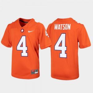 #4 Deshaun Watson Clemson Tigers Alumni Football Game For Kids Jersey - Orange