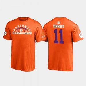 #11 Isaiah Simmons Clemson Tigers 2018 National Champions Youth Pylon T-Shirt - Orange