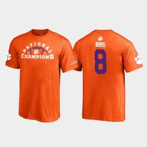 #8 Justyn Ross Clemson Tigers Youth 2018 National Champions Pylon T-Shirt - Orange