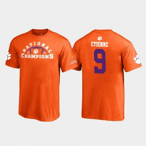 #9 Travis Etienne Clemson Tigers Pylon 2018 National Champions For Kids T-Shirt - Orange